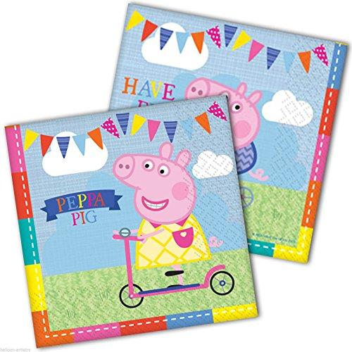 Comogiochi 5CG236101 Peppa Pig Serviette 33 x 33 cm Multicolore