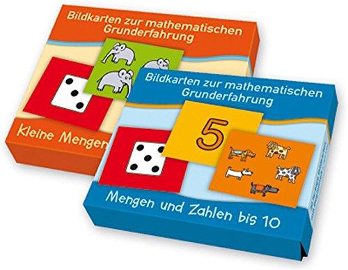 """PAKET Bildkarten zur mathematischen Grunderfahrung: Mengen: Bestehend aus """"Kleine Mengen auf einen Blick"""" und """"Mengen und Zahlen bis 10"""""""