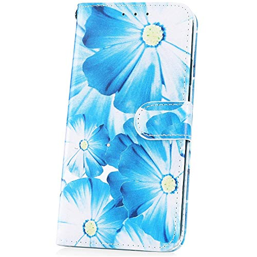 JAWSEU Compatible avec LG G8 Coque Portefeuille PU à Rabat Housse de Protection, Mode Marbre Motif Ultra Mince Leather Wallet Case Stand Magnétique Flip Cover,#1