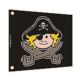 WICKEY Flagge Pirat 55x45cm