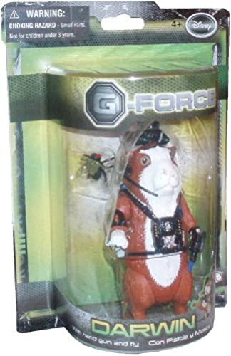 G-Force Movie Toy 5 Inch Action Figure Darwin (Hand Gun and Fly)