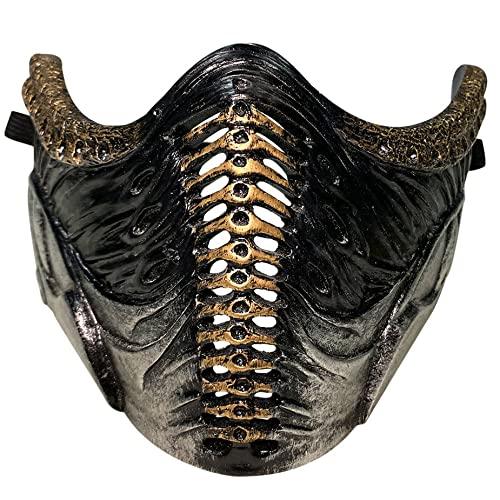 Kongqiabona-UK Máscara Mortal Kombat Máscara periférica Máscara Fresca de Halloween Accesorios de decoración de Fiesta de Halloween multifuncionales