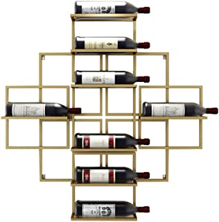 Logo TLF-FF Montado en la Pared del Vino Estante Colgante Vino Tinto Vino Estantería de Pared Decoración Estante