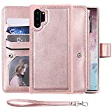 Galaxy Note 10 Plus Wallet Case,SAVYOU 2 in 1 Folio Flip Durable Magnetic Detachable Cover fit Car Mount [8 Card Holder] [Wrist Strap] PU Leather Case for Samsung Galaxy Note 10+ Plus 5G 6.8 inch