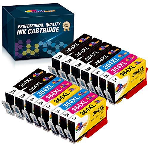 Clorisun Cartuchos de tinta compatibles para HP 364XL HP Deskjet 3070A 3520 Photosmart 5510 5515 5520 5525 6510 6520 7510 7520 C5324 C5380 C6324 C6380 B8550 DD 5460 Impresora Officejet 4620 4622