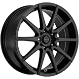 Focal F-04 17 Black Wheel / Rim 5x4.5 & 5x4.25 with a 42mm Offset and a 73 Hub Bore. Partnumber 428-7714SB+42