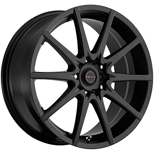 Focal F-04 17 Black Wheel / Rim 5x4.5 & 5x4.25 with a 42mm Offset and a 73 Hub...