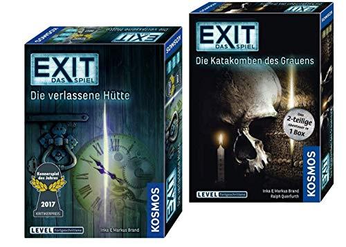 EXIT Kosmos Spiele verlassene Hütte, + Kosmos Spiel - Die Katakomben des Grauens - das 2-teilige Abenteuer in 1 Box, Level: Fortgeschrittene, Escape Room Spiel