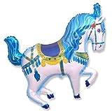 Flexmetal Blue Carnival/Circus Horse Shaped 26' Foil Balloon