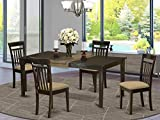 5 Pc formal Dining room set-Dinette Table featuring Leaf and 4 Dining Chairs.