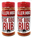 Killer Hogs Barbecue Rub - Pack of 2 Bottles - 16 oz Per Bottle - 32 oz Total of Bulk Killer Hogs BBQ Rub - Championship Rub for Barbecue