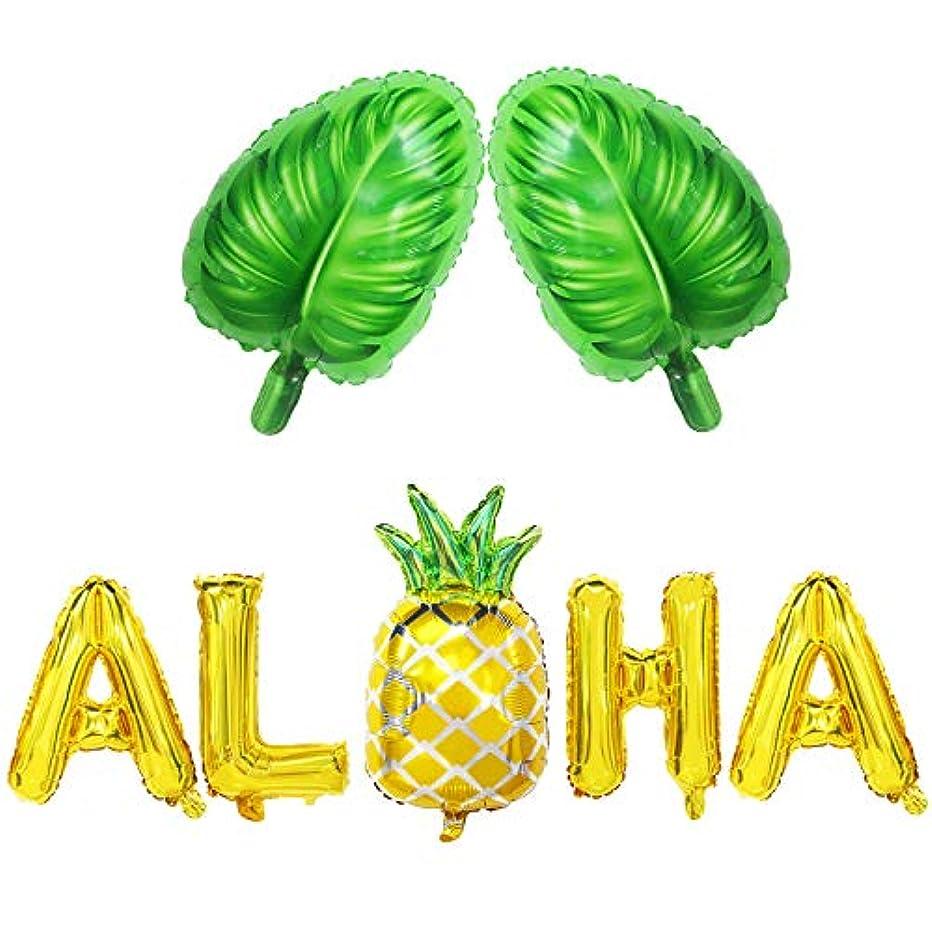 Aloha Balloon Banner   Aloha Balloon Letters   Aloha Balloons with Pineapple   Aloha Balloons Gold Pineapple   Aloha Mylar Balloons   Monstera Leaf Balloons Large   Hawaii Luau Aloha Party Decorations