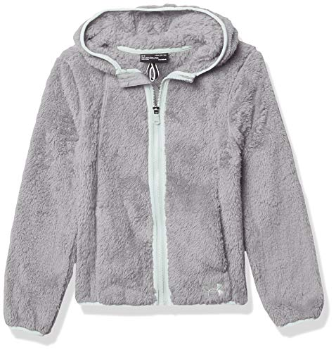 Under Armour Girls' UA Cozy Fleece Hoodie, Moderate Gray, YSM