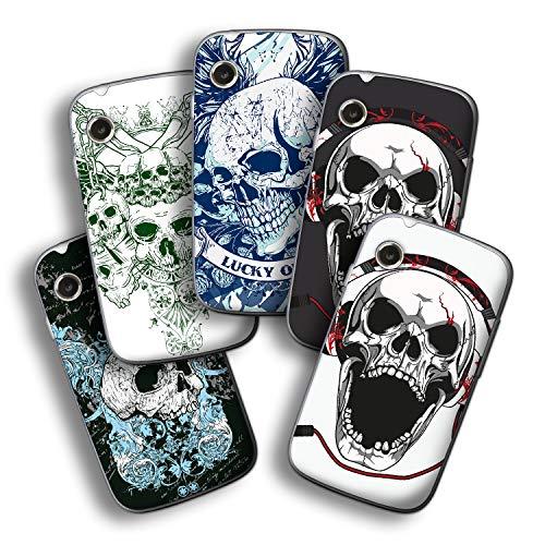 atFolix Designfolie kompatibel mit Wiko Ozzy, wähle Dein Lieblings-Design aus, Skin Aufkleber (Schädel und Knochen)
