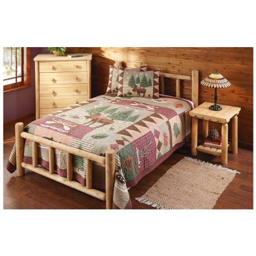 CASTLECREEK Cedar Log Bed, Twin