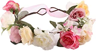 Pulabo moda bebé niños hecho a mano rosa flor diadema diadema corona tocado banda accesorios alta calidad confiable