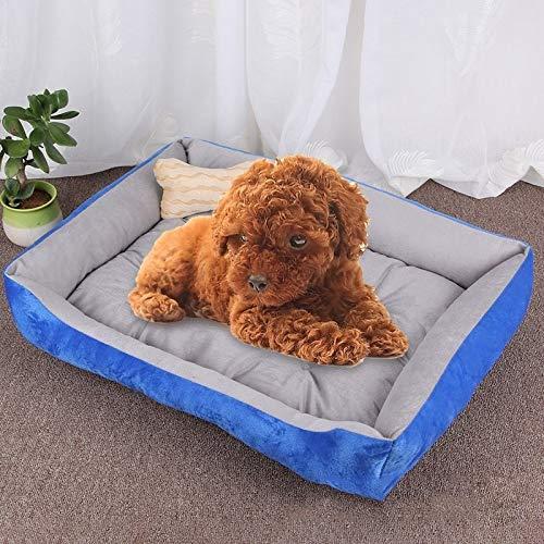 Qiuge Haustierbedarf, Hund & Katze-Bett-weiche warmen Winter Cosy bequemes Gedächtnis-Schaum-Haustier-Bett, Orthopädische Hundebett und Sofa (mit abnehmbarem Bezug maschinenwaschbar), Hundeknochen Kis