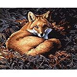 Pintura por número Lazy Fox DIY Juego de Pintura al óleo 40 * 50 CM Lienzo sin Marco decoración del hogar acrílico Pintura de Arte Moderno.