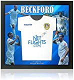 Jermaine Beckford Firmado a mano Leeds United Camisa Presentación AFTAL COA