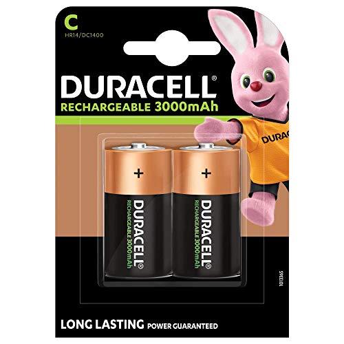 Duracell Recharge Ultra C Batterien, 2er Pack