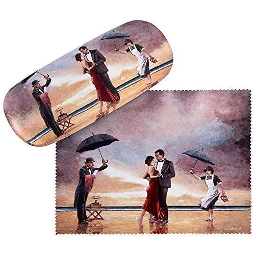 VON LILIENFELD VON LILIENFELD Brillenetui Liebe Romantik Theo Michael: Hommage to the Singing Butler Brillenputztuch Brillenbox Stabiles Hardcase Set mit Putztuch