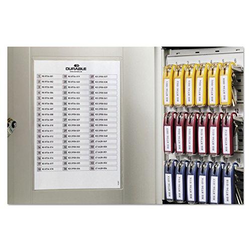 Durable Office Products Schlüsselkasten mit Schloss, 11-7/8 x 4-3/4 x 11, 54 Schlüssel, Aluminium