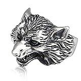 Kaige Cabeza de lobo dominante S925 plata Retro plata tailandesa personalidad anillo regalo de...