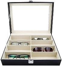 Piel sint/ética, Caja de Almacenamiento Goetland Organizador de Gafas de Sol