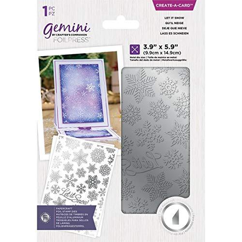 Crafter's Companion Gemini-Folien-Stempel, Metall-Stanzform, zum Erstellen von Karten und Schneen, silberfarben, Einheitsgröße