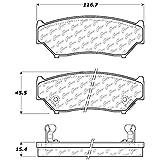 Centric Parts 300.05560 Semi Metallic Brake Pad with Shim