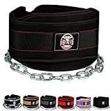 IBRO Advanced Fitness Dipping Belt with Heavy Duty Long Steel Chain   Weighted Dips, Pullups, Bodybuilding, Weight Lifting   Neoprene Waist Support   for Men and Women