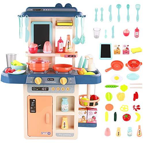 Symiu Cuisine Enfant Mon Petit Chef Jeu de Rôle 42 Pièce pour Les avec Lumière et Son Cadeaux de Enfant 3 4 5 Ans Garçons Filles