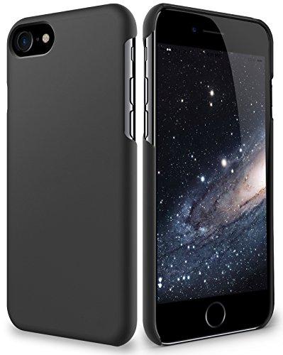 vau SlimShell Hülle - Hülle passend für iPhone 8 / iPhone SE (2020) - Schutzhülle, Tasche Rückseite (matt schwarz)