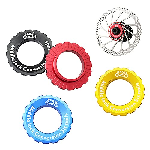 LIZHOUMIL Bike Centerlock Tapa Disco Hub Rotor Lock Cover Center Lock Ring Cover Para 6 Uñas Hub Negro