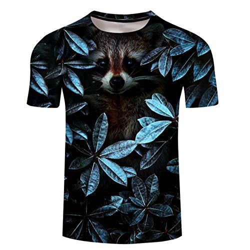 SSBZYES Camiseta para Hombre, Camiseta De Verano De Manga Corta con Cuello Redondo, Camiseta De Gran Tamaño, Camiseta con Estampado De Lobo a La Moda para Hombre, Sudadera, Pulóver para Hombre