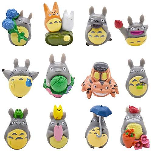 Cake Toppers YUESEN kuchendeko Geburtstag 12pcs Mini Anime Zeichentrickfiguren Totoro Cupcake Party Kinder Geburtstag Party Cake Toppers für Kinder Jungen Mädchen