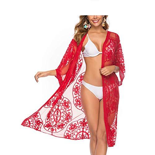 PJPPJH Dames Maillot de bain Court Crochet Wrap Maillot de bain d'été couvrir Pour Piscine Natation vacances Femmes Impression Creux Bikini