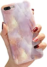 iPhone 7 Plus case,iPhone 8 Plus Case,Colorful Glossy Marble iPhone Case for Girls Women,Kisstop Collection High Impact Flexible Silicon Case for iPhone 8 Plus & iPhone 7 Plus