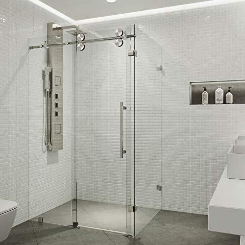 Vigo 36 x 48 Frameless Rectangular Sliding Shower Door Enclosure with Tempered Glass