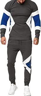 Mens Casual 2 Pieces Sweatshirt + Pants Running Jogger Tracksuit Sport Suit Grey XS