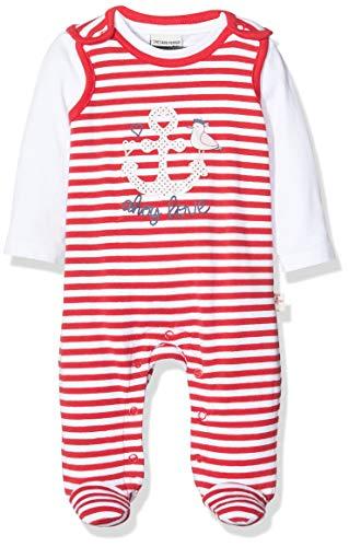 Salt & Pepper Baby-Mädchen 03224201 Strampler, Rot (Lollipop Red 344), (Herstellergröße: 56)