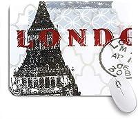 NIESIKKLAマウスパッド 人類学の世界旅行者ロンドン ゲーミング オフィス最適 高級感 おしゃれ 防水 耐久性が良い 滑り止めゴム底 ゲーミングなど適用 用ノートブックコンピュータマウスマット