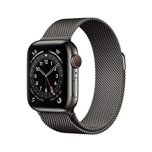 Oferta de AppleWatch Series6 (GPS+Cellular, 40 mm) Caja de Acero Inoxidable en Grafito - Pulsera Milanese Loop en Grafito