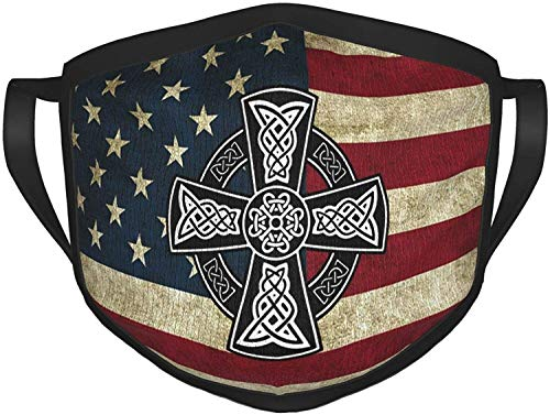 Celtic Cross Knot Irish Face Mask Adult Sport Mask Men's Women Christmas Face Mask-Black-One Size