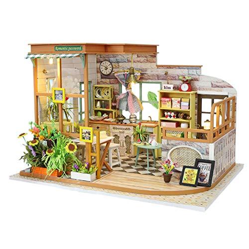 WonDrtherC kit de modelo de cocina 3D, kit de casa de muecas en miniatura, kit de manualidades de casa de msica, para cumpleaos, Accin de Gracias, boda