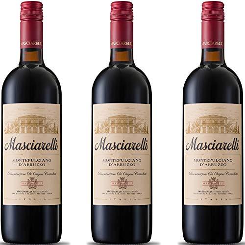 Montepulciano d Abruzzo DOC | Masciarelli | Vino Rosso Classico | 3 Bottiglie 75 Cl | Idea Regalo