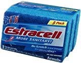 Brillo Estracell No Scratch Scrub Sponge with Wedge Edge, 3-Count
