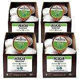 Fresh Roasted Coffee LLC, Organic Mexican Swiss Water Half-Caf Coffee Pods, Medium Roast, 72 Count