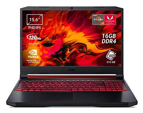 Acer Nitro 5 AN515-43-R7ES Notebook Gaming Portatile, AMD Ryzen 7 3750U, Ram 16GB DDR4, 512GB SSD, Display 15.6' FHD IPS 120Hz slim bezel LCD, NVIDIA GeForce GTX 1050Ti 4GB GDDR5, Windows 10 Home