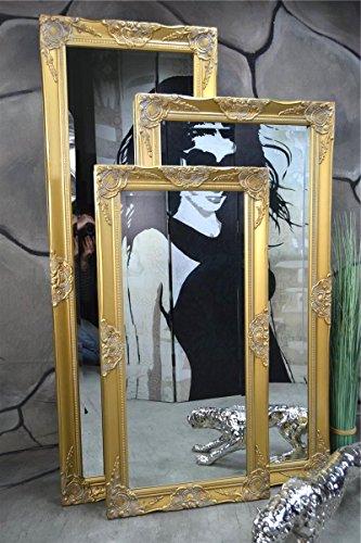 Livitat® Wandspiegel Spiegel Badspiegel barock antik Gold 140 x 50 cm LV9030
